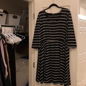 Torrid Black and White Striped Dress